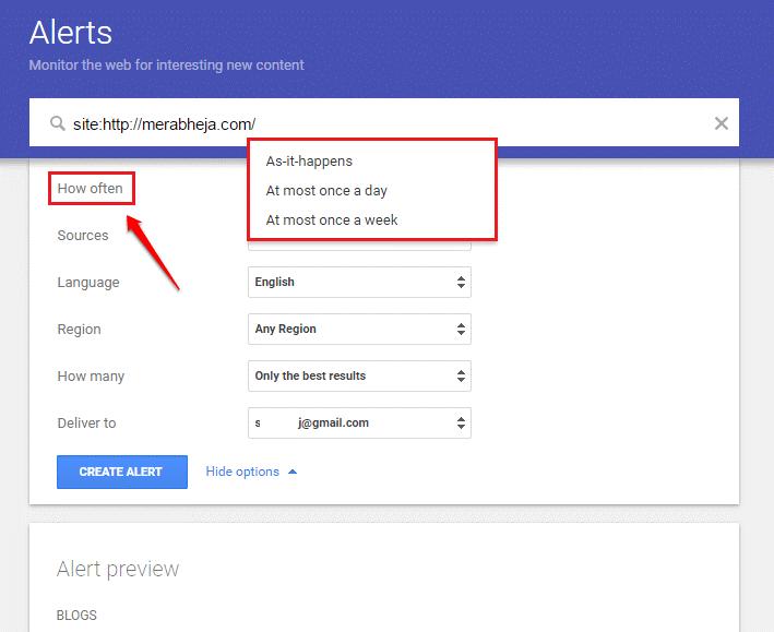 Cách sử dụng Google Alert